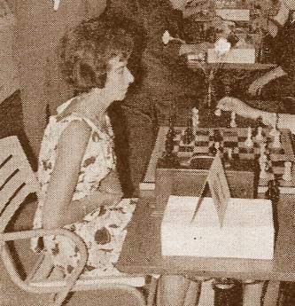 La ajedrecista María Luisa Gutiérrez Blanco en 1965