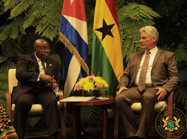 """Ghana, Cuba Must Forge New, Strong Partnership For Co-Operation"" – President Akufo-Addo"