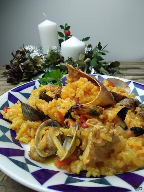 Receta: Arroz meloso con buey de mar y otros mariscos