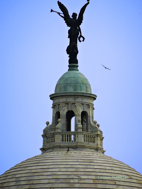 Angel of Victory on Top of Victoria Memorial, Kolkata