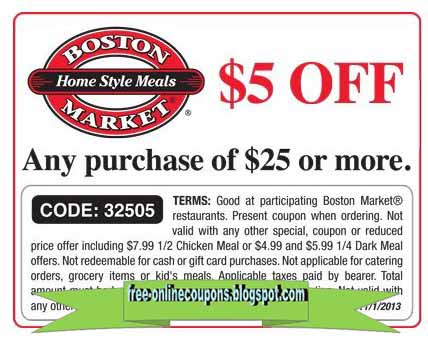 Boston Market has offered a sitewide coupon (good for all transactions) for 30 of the last 30 days. The best coupon we've seen for lalikoric.gq was in December of and was for $11 off. Sitewide coupons for lalikoric.gq are typically good for savings between $3 and $