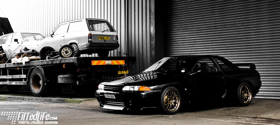 Nissan Skyline R32, napęd, JDM, japoński sportowy samochód, coupe, kultowy, 日本車 チューニングカー スポーツカー 日産