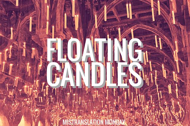 Floating candles, schwebende Kerzen, schwimmende Kerzen