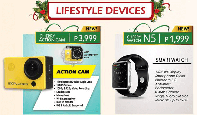 Cherry Action Cam And Cherry Watch N5 Smartwatch Introduced! Priced At 3999 And 1999 Pesos Respectively!