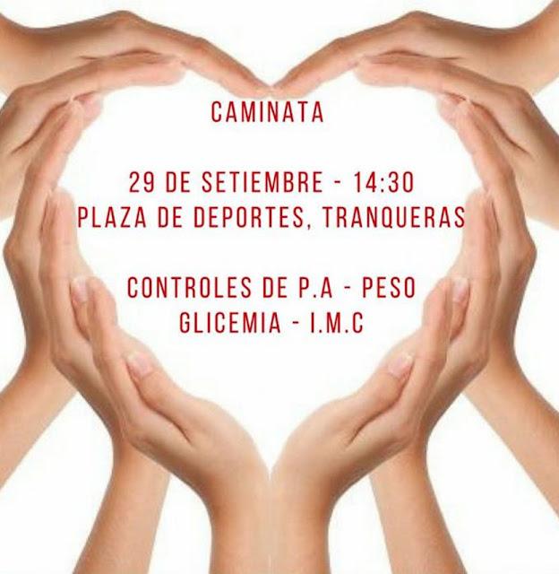 Caminata por la Semana del corazón desde plaza de deportes de Tranqueras (Rivera, 29/sep/2017)