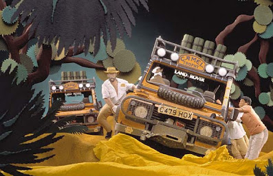 Jungle paper art with Jeep