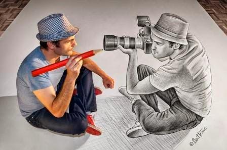 Unik dan luar biasa 77 Karya seni Pensil vs Kamera yang sangat kreatif