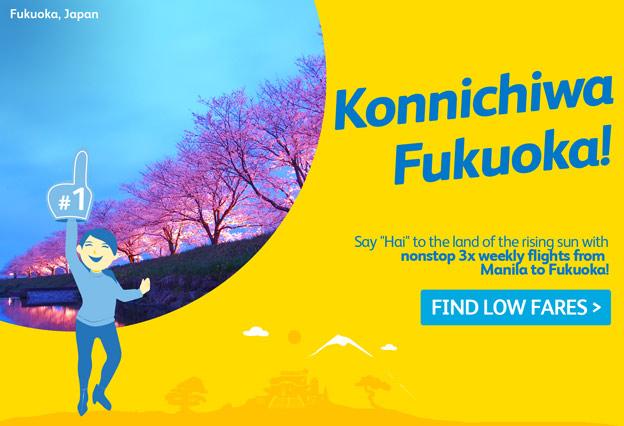 Cebu Pacific Air Manila to Fukuoka