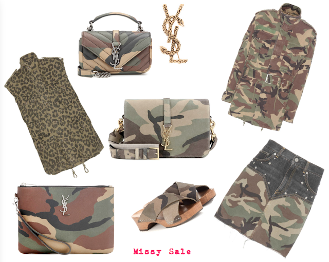 Camuflaje estampado Saint Laurent SS 2016