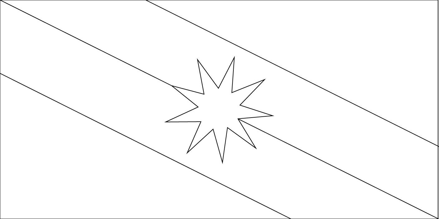 Gambar Mewarna Bendera Sarawak