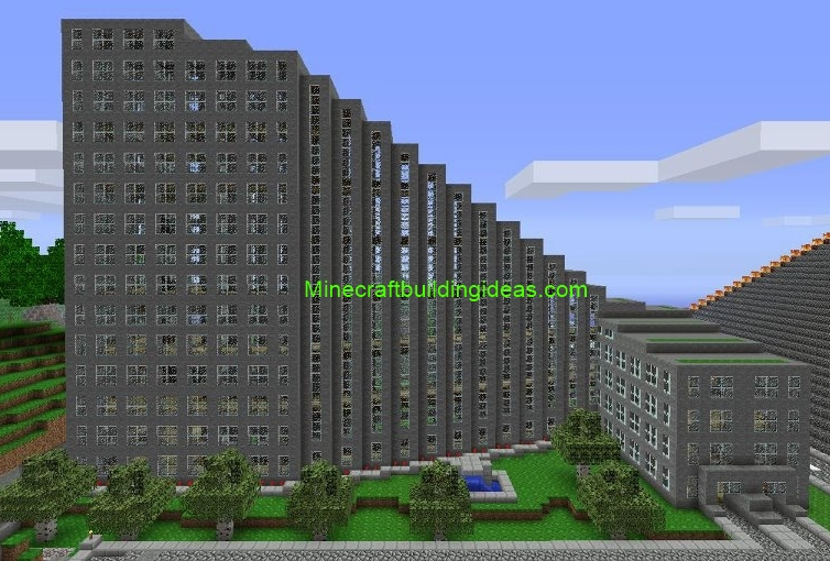 Minecraft Building Ideas: Office Building