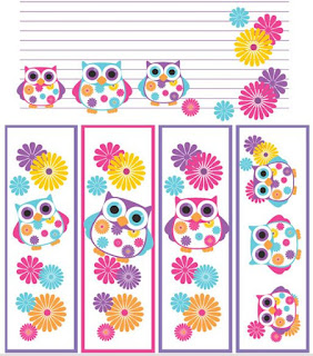 Búhos en Primavera:  Mini Kit para Imprimir Gratis.