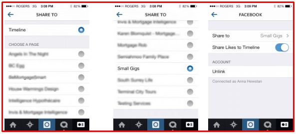 how to link instagram feed to facebook business page