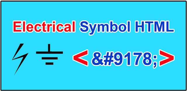 Electrical Special Character HTML