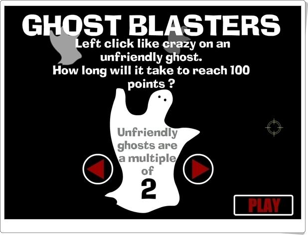 """""""Ghost Blasters"""" (Juego de Múltiplos de un Número)"""