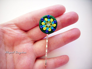 polymer clay, hairpin