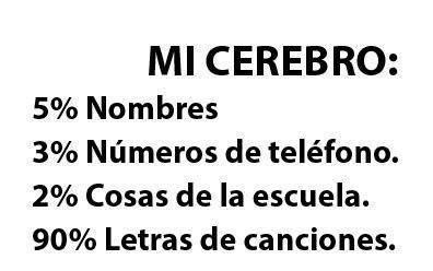 Imagenes Y Frases Facebook Mi Cerebro 5 Nombres 3 Numeros