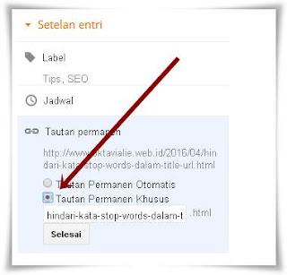 Hindari Kata Stop Words Dalam Judul / URL (Optimasi SEO)