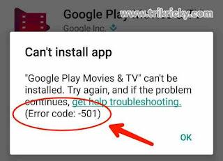 Kode Error Google Play