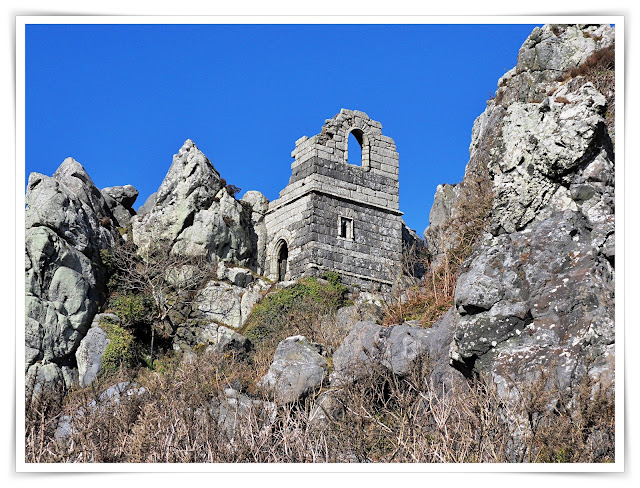 Roche Rock, Cornwall with the old chapel