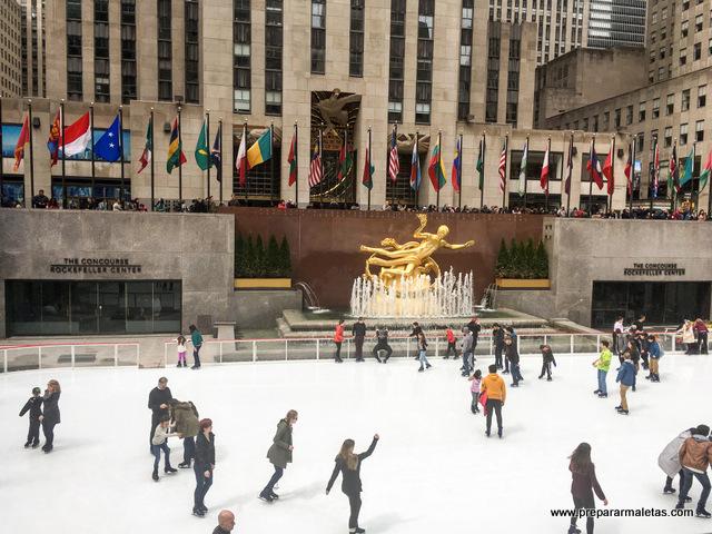 Pista de hielo en Rockefeller center
