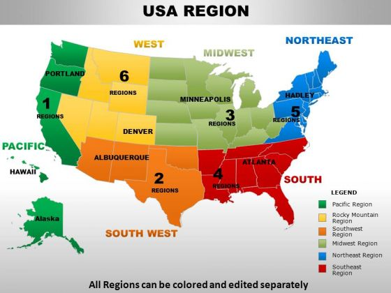 Usa region country