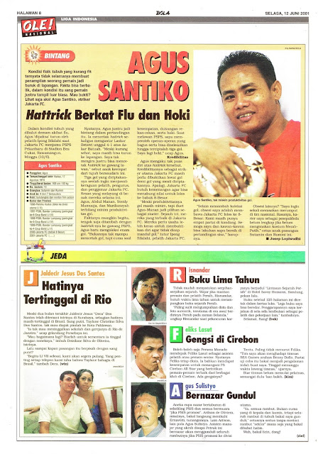 LIGA INDONESIA PROFIL BINTANG AGUS SANTIKO