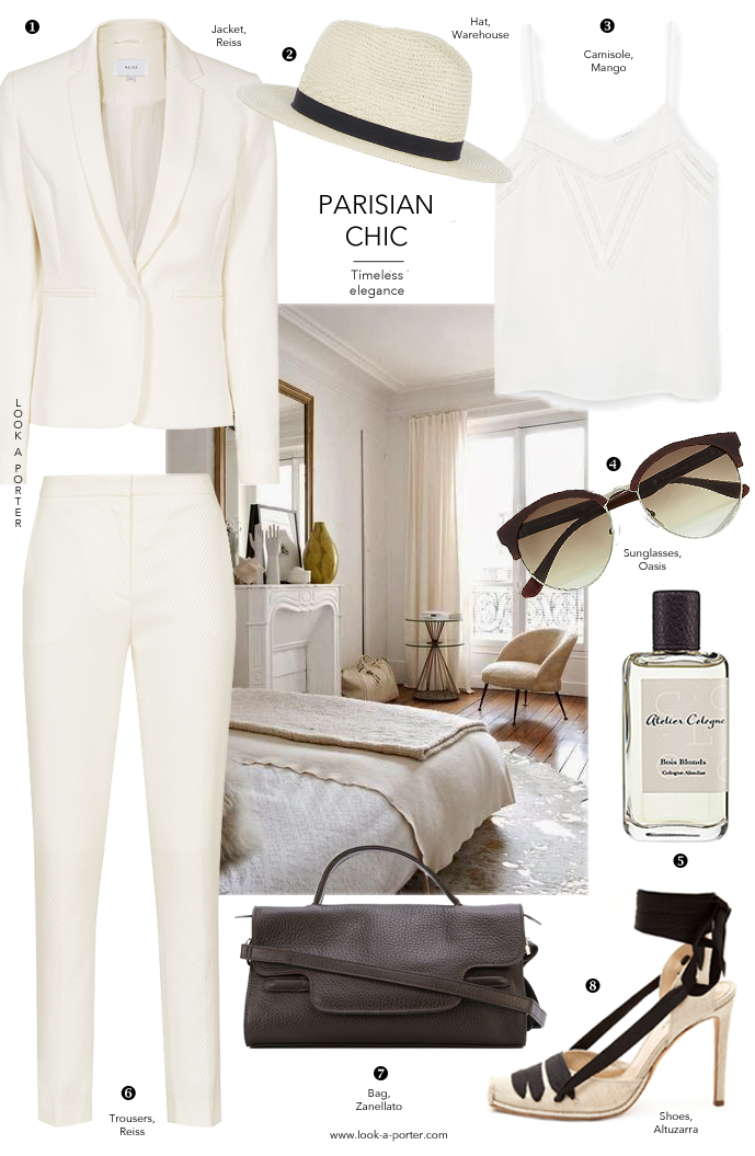 How to style a white suit for spring and summer via www.look-a-porter.com style & fashion blog
