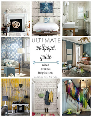 Wallpaper! Here's a great resource for wallpaper terms, types, and sources. - Postcards from the Ridge