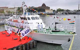 ICG commissions Interceptor Ship ICGS C 439 at Mumbai