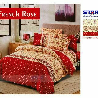 Sprei Motif French Rose bahan star
