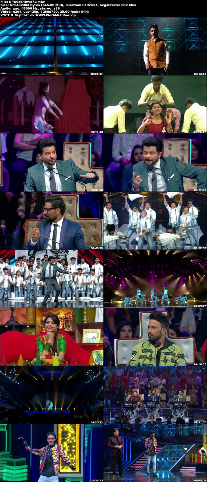 Dance Plus S4 08 December 2018 720p WEBRip 500Mb x264 world4ufree.vip tv show Dance Plus 4 2018 hindi tv show Dance Plus 4 2018 Season 4 Star Plus tv show compressed small size free download or watch online at world4ufree.vip