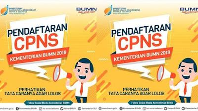 Informasi dan Syarat Pendaftaran CPNS 2018 di Kementerian BUMN