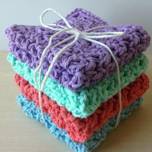 How to Crochet Washcloths - Tutorial