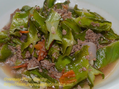 Winged Beans with Beef, Ginisang Sigarillas