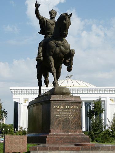 Statue of Timur in Tashkent, Uzbekistan