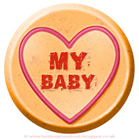 My Baby text on Love Heart sweet free image for texting