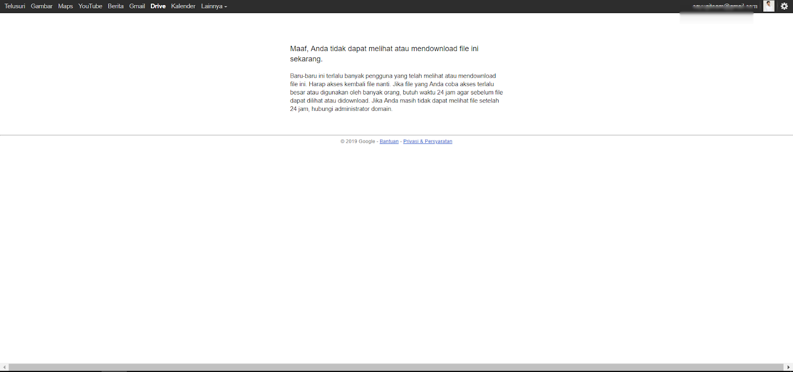 cara mengatasi limit download di google