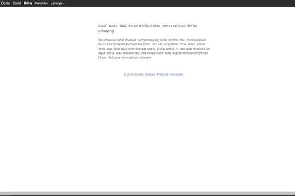 Cara Mengatasi Limit Download di Google Drive!
