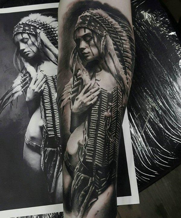 tatuagem índio