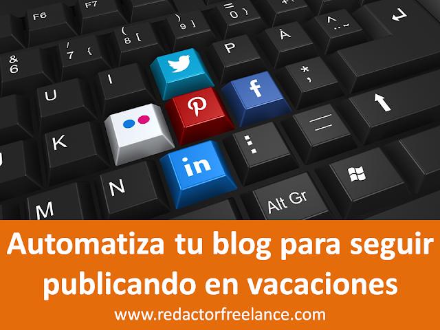 cómo automatizar tu blog para seguir publicando en vacaciones