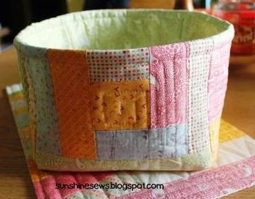 Scrap Fabric Basket - Noteworthy by Sweetwater