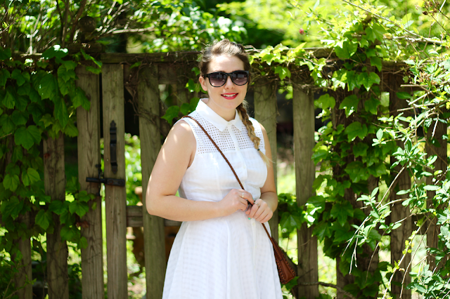 White Eyelet Shirtdress 7