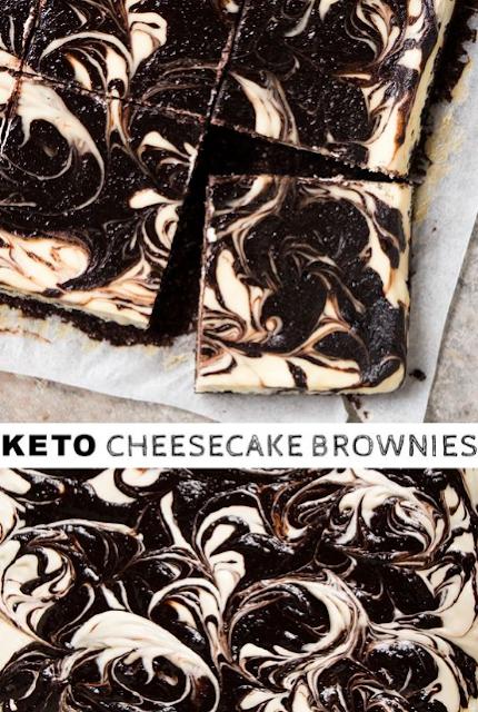 GLUTEN FREE, LOW CARB & KETO CHEESECAKE BROWNIES