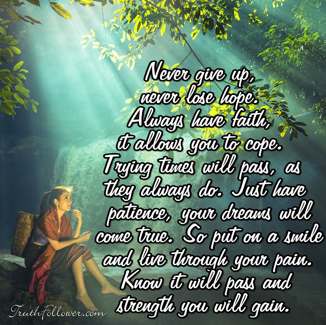 Never give up, Never lose hope
