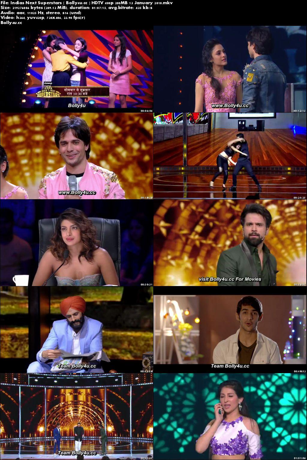 Indias Next Superstars HDTV 480p 200MB 13 January 2018 Download