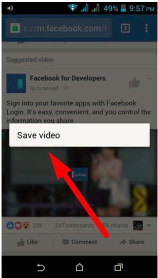 download facebook video in google chrome