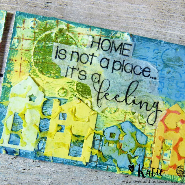 Little Houses Mixed Media ATC Set | By Katie