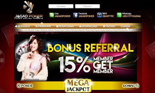 online terbaik dan terpercaya di Indonesia JAGADONLINE.NET AGEN BANDARQ, DOMINO99, DOMINOQQ POKER ONLINE,BANDARQ ONLINE TERPERCAYA