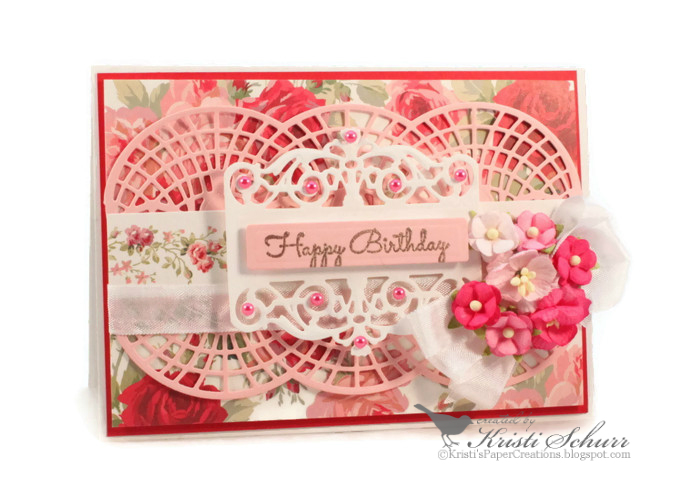 Kristis paper creations floral happy birthday card happy sunday to you im back today to share with you a summery floral birthday card bookmarktalkfo Images